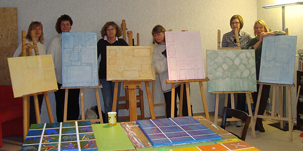 Participants of the painting workshop